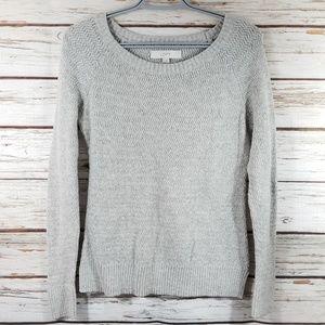 Loft Gray Knit Sweater, size Medium